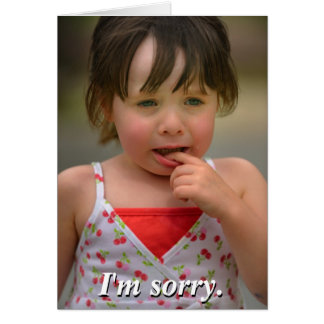 I'm sorry. Can we still be friends? Greeting Card