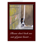 I'm Sorry Card--Don't Lock Me Out Greeting Card