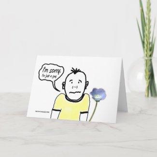 I'm Sorry - Cartoon Guy - Card