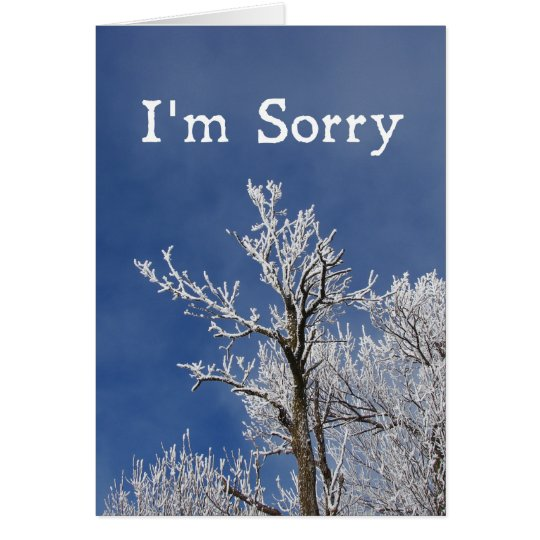 I'm Sorry, Frosted Winter Tree Card