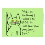 """I'm Sorry"" Greeting Cards--Cat Design"