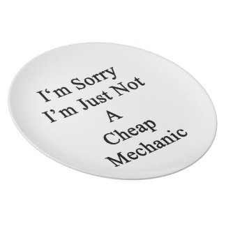I'm Sorry I'm Just Not A Cheap Mechanic Plate