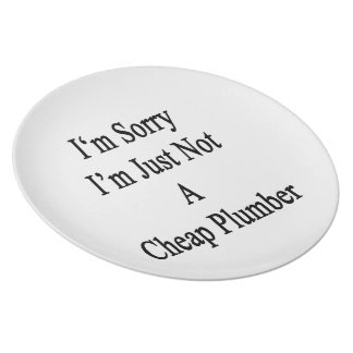I'm Sorry I'm Just Not A Cheap Plumber Party Plates
