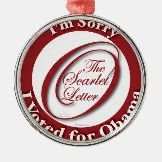I'm Sorry Metal Ornament