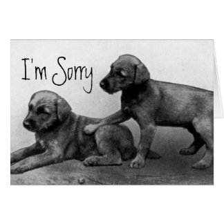 I'm Sorry - Puppy Friends Greeting Card