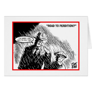 """I'M SORRY: """"ROAD TO PERDITION"""" GREETING CARD"""