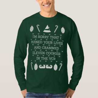 Im Sorry Ruined Your Lives Cookies Vcr Christmas T-Shirt