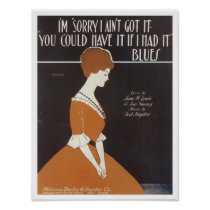 I'm Sorry Vintage Songbook Cover Poster