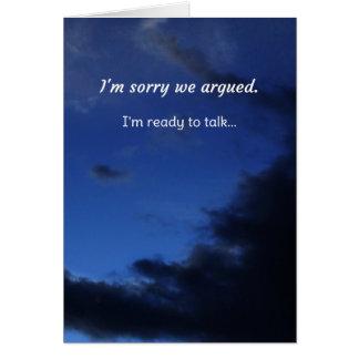 I'm sorry we argued...Relationships Card