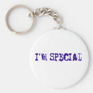 I'm Special Basic Round Button Keychain