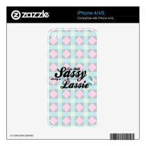 I'm Still Sassy Being a Teal & White Lassie case iPhone 4S Skins