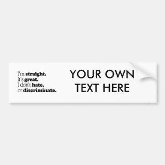 I'M STRAIGHT IT'S GREAT -.png Car Bumper Sticker