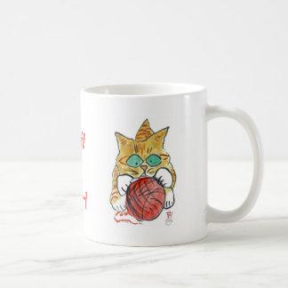 I'm stuck ion the yarn meows the kitten coffee mug