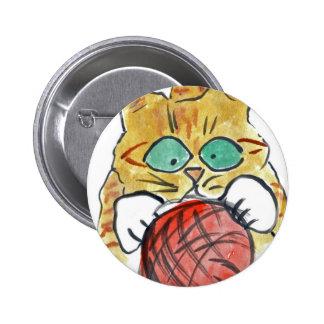 I'm Stuck on the Yarn Meows Kitten Pinback Buttons