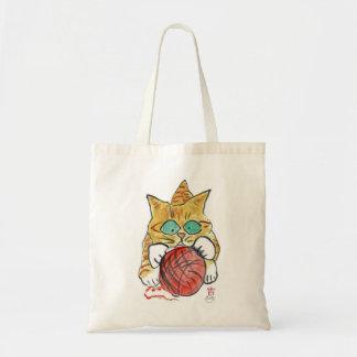 I'm Stuck on the Yarn Meows Kitten Tote Bag