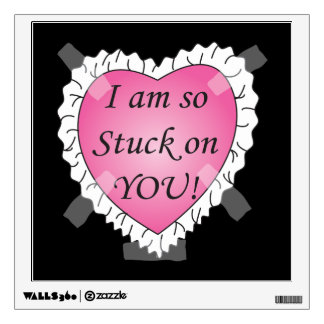 I'm Stuck On You Giant Pink Heart Wall Sticker