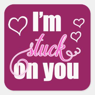I'm Stuck On You Valentine Square Sticker