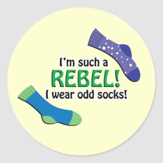 I'm such a rebel, I wear odd socks! Sticker