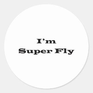 I'm Superfly Classic Round Sticker