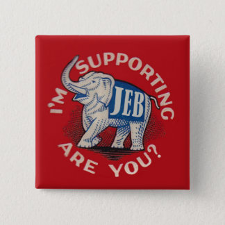 I'm Supporting Jeb Pinback Button