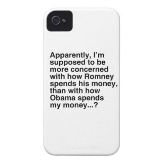 I'M SUPPOSED TO BE MORE CONCERNED WITH HOW ROMNEY  iPhone 4 Case-Mate CASES
