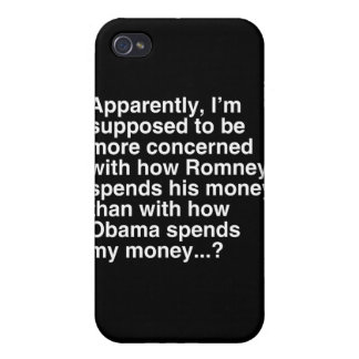 I'M SUPPOSED TO BE MORE CONCERNED WITH HOW ROMNEY  COVER FOR iPhone 4