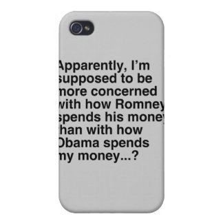 I'M SUPPOSED TO BE MORE CONCERNED WITH HOW ROMNEY  iPhone 4 COVER