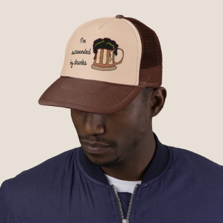 I'm surrounded by drunks trucker hat