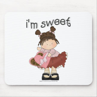 ♥ i'm sweet ♥ girly giggles mouse pad