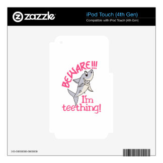 I'm Teething! iPod Touch 4G Decals