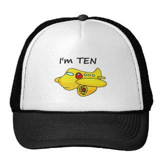 I'm Ten, Yellow Plane Trucker Hat