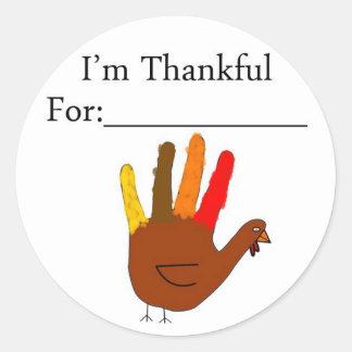 I'm Thankful For Classic Round Sticker