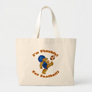 I'm Thankful for Football Thanksgiving Design Canvas Bag
