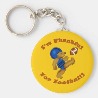 I'm Thankful for Football Thanksgiving Design Basic Round Button Keychain