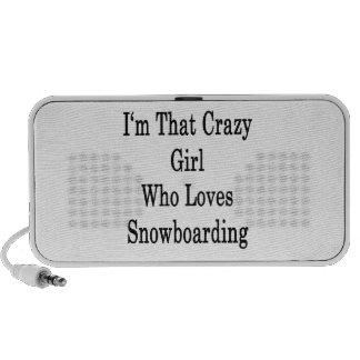 I'm That Crazy Girl Who Loves Snowboarding Speaker System