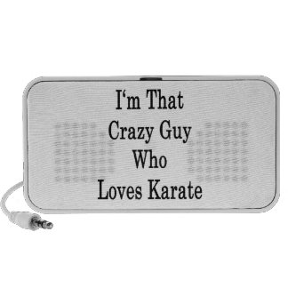 I'm That Crazy Guy Who Loves Karate iPhone Speaker