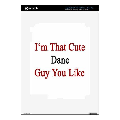 I'm That Cute Dane Guy You Like iPad 3 Decals