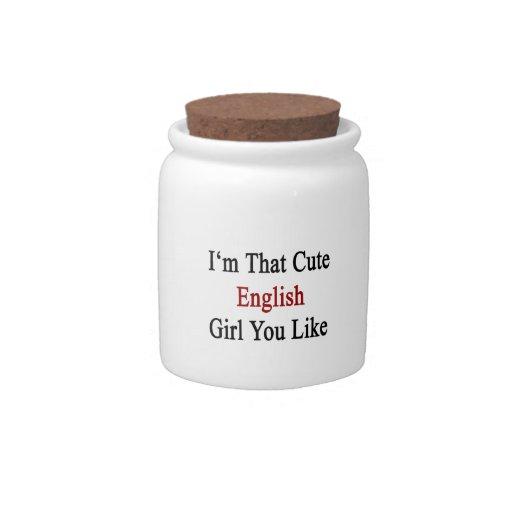 I'm That Cute English Girl You Like Candy Jar