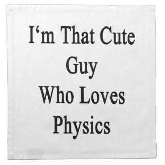 I'm That Cute Guy Who Loves Physics. Napkins