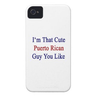 I'm That Cute Puerto Rican Guy You Like iPhone 4 Case
