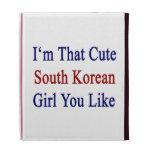 I'm That Cute South Korean Girl You Like iPad Folio Cases