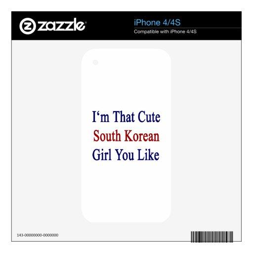 I'm That Cute South Korean Girl You Like iPhone 4 Skins