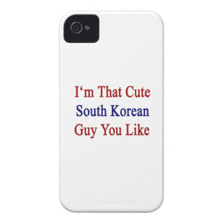 I'm That Cute South Korean Guy You Like Case-Mate iPhone 4 Cases