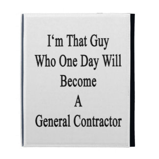 I'm That Guy Who One Day Will Become A General Con iPad Cases