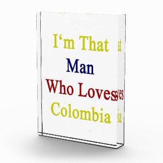 I'm That Man Who Loves Colombia Acrylic Award