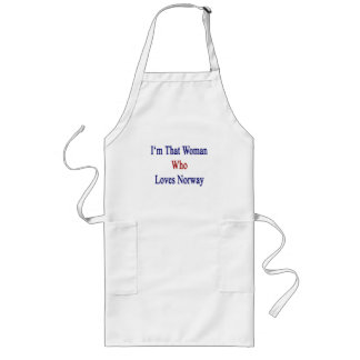 I'm That Woman Who Loves Norway Long Apron