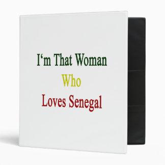I'm That Woman Who Loves Senegal Vinyl Binder