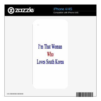 I'm That Woman Who Loves South Korea iPhone 4 Decals