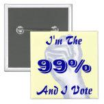 I'm The 99% 2 Inch Square Button