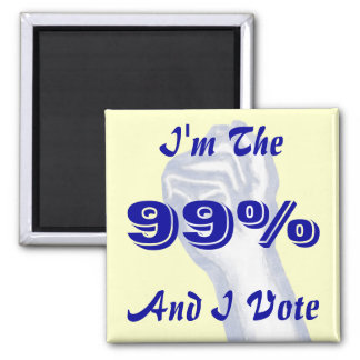 I'm The 99% 2 Inch Square Magnet
